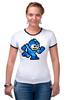 "Футболка Рингер ""Mega Man (8-bit)"" - 8-бит, 8-bit, mega man"