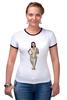 """Футболка Рингер """"футболка с моникой"""" - monica bellucci, моника белуччи"""