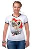 """Футболка Рингер """"Звезда покера"""" - череп, арт, авторские майки, жизнь, карты, скелет, покер, стрит, зеро, очко"""