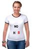 """Футболка """"Рингер"""" (Женская) """"NOH8"""" - noh8, lgbt, протест"""