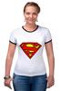 "Футболка Рингер ""Supergirl"" - comics, superman, dc"