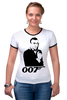 "Футболка ""Рингер"" (Женская) ""James Bond"" - james bond, агент 007, шон коннери, джеймс бонд, sean connery"