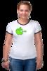 """Футболка Рингер """"Apple"""" - приколы, футболка, женская, оригинально"""
