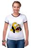 """Футболка Рингер """"Homer Simpson"""""""