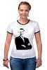 """Футболка Рингер """"Обама"""" - обама, сша, президент, obama"""