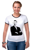 "Футболка ""Рингер"" (Женская) ""Обама"" - обама, сша, президент, obama"