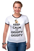 "Футболка Рингер ""Keep Calm and Giggity"" - keep calm, family guy, гриффины, giggity, гленн куагмаер"