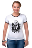 "Футболка ""Рингер"" (Женская) ""Mr. Lavrov we love"" - россия, путин, лавров, lavrov, weloverov"