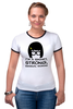 """Футболка Рингер """"Умная, сильная женщина (Тина Белчер)"""" - strong, smart, закусочная боба, bob's burgers, sensual"""