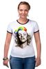 """Футболка Рингер """"Marilyn Monroe"""" - мэрилин монро, marilyn monroe"""