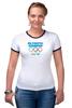 """Футболка """"Рингер"""" (Женская) """"Olympic Champion"""" - olympic games, sochi 2014, сочи 2014, олимпийские игры"""