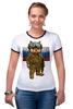 """Футболка """"Рингер"""" (Женская) """"Вежливые Люди"""" - армия, россия, флаг, крым, вежливые люди"""