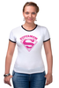 "Футболка Рингер ""Супермама (Supermom)"" - супер, super, мама, mom, supermom"