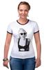 """Футболка """"Рингер"""" (Женская) """"Lady Gaga"""" - девушка, модно, стиль, lady, gaga, певица"""