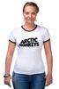 """Футболка """"Рингер"""" (Женская) """"Arctic Monkeys"""" - uk, arctic monkeys, indie rock, инди-рок, арктические мартышки"""