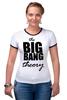 "Футболка ""Рингер"" (Женская) ""The Big Bang Theory"" - the big bang theory, теория большого взрыва, шелдон купер, sheldon cooper"