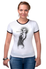 """Футболка """"Рингер"""" (Женская) """"Marilyn Monroe"""" - актриса, marilyn monroe, мерилин монро, фотомодель, в джазе только девушки"""