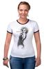 "Футболка Рингер ""Marilyn Monroe"" - актриса, marilyn monroe, мерилин монро, фотомодель, в джазе только девушки"