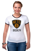 "Футболка Рингер ""Brooklyn Nets"" - nba, нба, бруклин нетс, brooklyn nets"