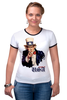 "Футболка Рингер ""Америка"" - америка, usa, американский пирог, uncle sam, дядя сэм"