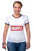 "Футболка ""Рингер"" (Женская) ""Marvel"" - комиксы, классная, крутая, marvel, spider man, марвел, железный человек, iron man, капитан америка, локи"