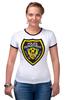 """Футболка Рингер """"Police Department"""" - полиция, police, gta, гта, liberty city, либерти-сити"""