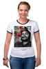 """Футболка """"Рингер"""" (Женская) """"че гевара"""" - che, cuba, guevara, революционер, кубинская революция"""