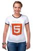 "Футболка ""Рингер"" (Женская) ""HTML5"" - html5"