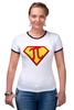 "Футболка Рингер ""Супер Пи (Super Pi)"" - математика, 14 марта, число пи, день числа пи"