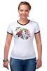 """Футболка Рингер """"Хранитель природы"""" - арт, лошадь, рисунок, свобода, оберег, этническое, индейские мотивы, анималистическое, славянское, кельтский крест"""