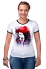 "Футболка Рингер ""Marilyn Manson"" - портрет, акварель, менсон, marilyn, manson"