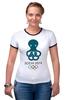 "Футболка ""Рингер"" (Женская) ""Сочи 2014"" - олимпиада, сочи, sochi, olympics"