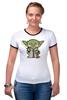 """Футболка Рингер """"Yoda Star Wars"""" - star wars, yoda, йода, звёздные войны"""