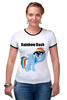 "Футболка ""Рингер"" (Женская) ""Rainbow Dash"" - mlp, my little pony, rainbow, dash, friendship is magic, dashie, coller"