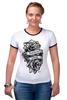"Футболка Рингер ""Forever young "" - цветы, tattoo, тату, розы, roses, дотворк, tm kiseleva"