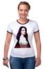"""Футболка Рингер """"Lana Del Rey - Ultraviolence Era (Front & Back)"""" - арт, lana del rey, лана дель рей, ultraviolence, ultraviolence era"""