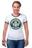 """Футболка Рингер """"Heisenberg Coffee (Breaking Bad)"""" - кофе, во все тяжкие, старбакс, heisenberg coffee"""
