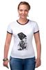 """Футболка Рингер """"Модные браслеты"""" - девушка в платке, рисунок по фото, девушка в браслетах"""