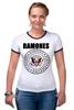 "Футболка ""Рингер"" (Женская) ""Ramones "" - punk, ramones, рамоунз"
