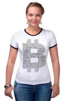 "Футболка Рингер ""Биткойн настроение"" - биткоин, стиль биткоин, bitcoin shop, одежда биткоин, bitcoin"