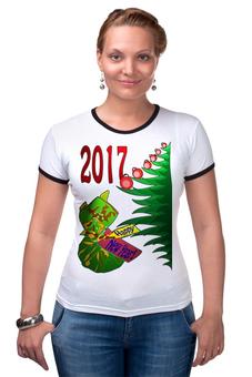 """Футболка Рингер """"Новогодний сюрприз"""" - новый год, подарок, сюрприз, новогодний, 2017"""