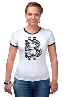 """Футболка Рингер """"Крипто стиль"""" - биткоин, bitcoin shop, bitcoin, стиль биткоин, футболка биткоин"""