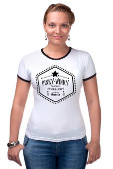 """Футболка Рингер """"Pinky-Winky"""" - handmade, пинки-винки, pinky-winky, pinkywinky, jewellery"""