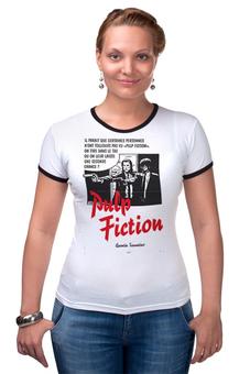 "Футболка Рингер ""Pulp Fiction"" - винтаж, tarantino, тарантино, криминальное чтиво, pulp fiction"