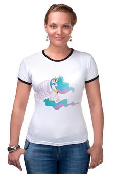 """Футболка Рингер """"Celestia"""" - my little pony"""