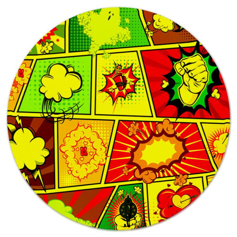Коврик для мышки (круглый) Printio Взрыв коврик для мышки круглый printio подарок