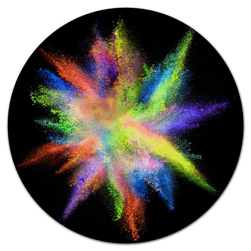 Коврик для мышки (круглый) Printio Взрыв красок коврик для мышки printio битва красок