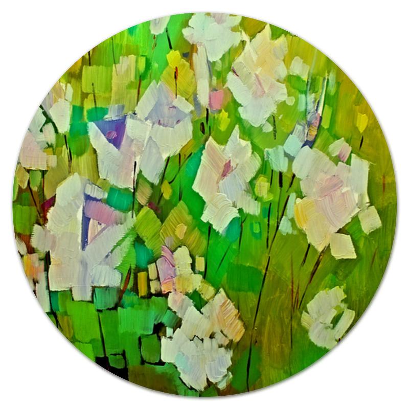 Коврик для мышки (круглый) Printio Весна красками цена