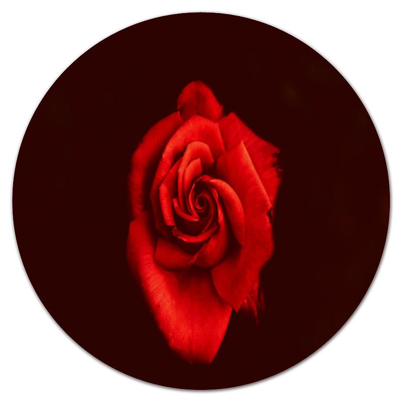 Коврик для мышки (круглый) Printio Красная роза 3d головоломка роза красная 90113