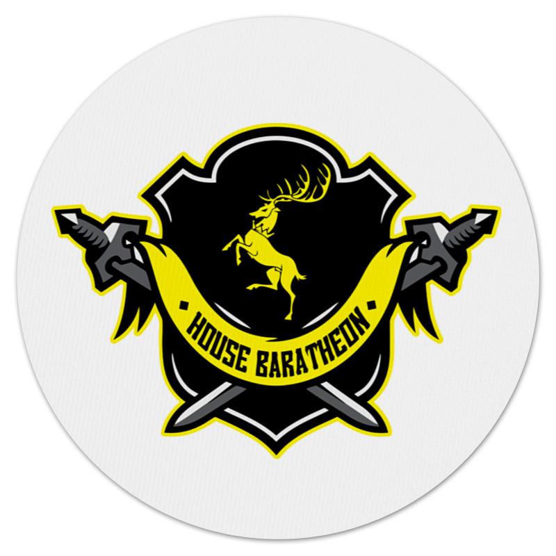 все цены на Коврик для мышки (круглый) Printio House baratheon онлайн